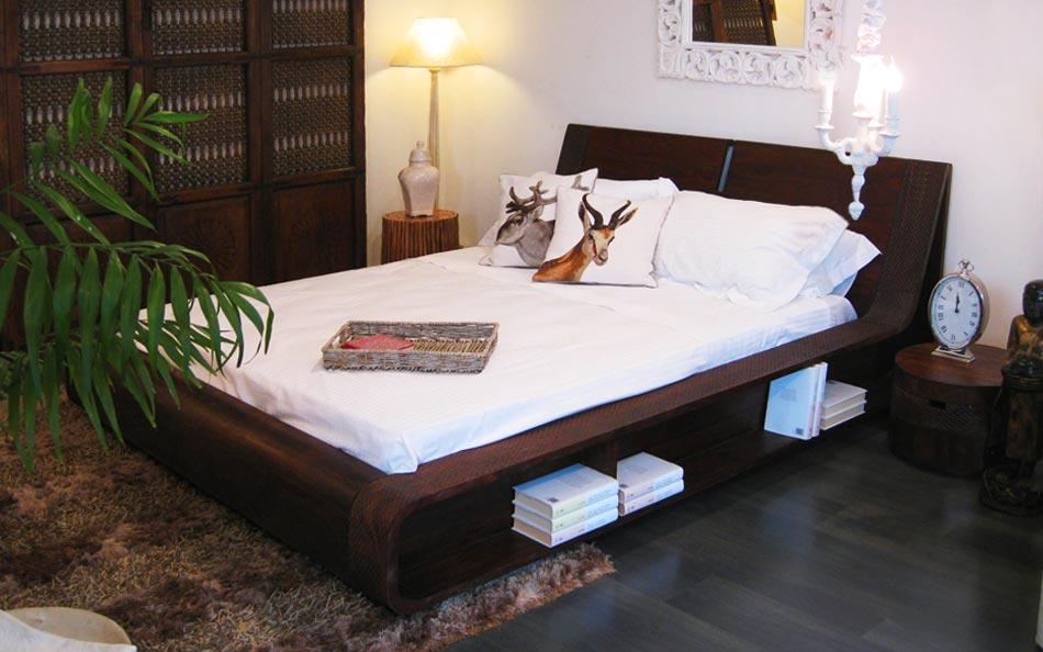 letto tribu in legno